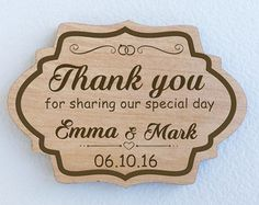 Rustic Wedding Favors Thank you tags