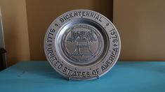 Bicentennial United States of America Decorative Metal Plate, Commemorative Plate, Collectible Plate, Liberty Bell by SoulsationsVintage on Etsy Vintage Wall Art, Vintage Walls, Decorative Metal, Liberty, Vintage Items, United States, Plates, America, Personalized Items