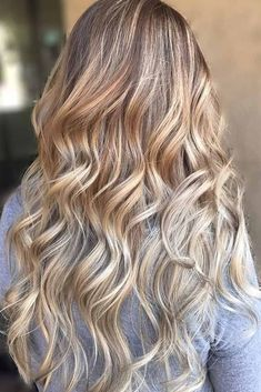 33 Blonde Balayage Looks Not To Miss In 2019 - Hair ColorLight Brown to Blonde Balayage ❤ These days blonde balayage is not something simple that you are used to. Time does not stay still and hair fashion moves further forward with each day! Grey Blonde Hair, Brown To Blonde Balayage, Blond Ombre, Ombre Hair Color, Hair Color Balayage, Dark Hair, Hair Colors, Hair Today, Hair Trends
