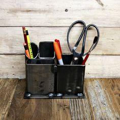 Welded steel desk organizer pen holder storage steel by CVFAB