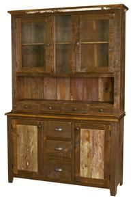 Browse through our beautiful collection of handcrafted Amish hutches in a variety of styles, sizes, and hardwoods from DutchCrafters Amish Furniture. Amish Furniture, Woodworking Furniture, Vintage Furniture, Home Furniture, Furniture Ideas, Reclaimed Wood Furniture, Pallet Furniture, Old Cabinets, China Cabinets