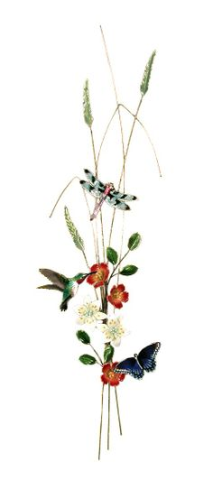 """""""Hummingbird, Dragonfly, Butterfly Bough"""" Bovano of Cheshire Metal, glass enamel over copper @Earthwood Galleries"""