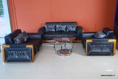 Living room sofa, love seat and couch set