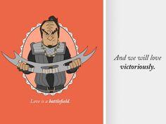 Klingon Valentine's Day Cards