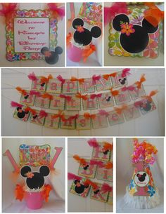Luau Aloha Minnie Mouse Party Package by ASweetCelebration on Etsy