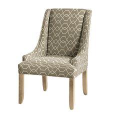 Gramercy Upholstered Chair, Trellis Taupe by Ballard Designs