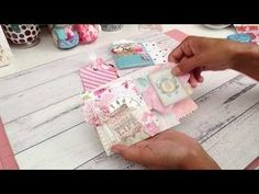 I made this fun loaded mini pocket envelope with a tutorial. I saw this tutorial a while back so this is not my idea and I can not take credit for it, I can'. Envelope Tutorial, Mini Album Tutorial, Mini Scrapbook Albums, Scrapbook Cards, Mini Albums, Scrapbooking Layouts, Diy Crafts For Girls, Easy Crafts, Cards