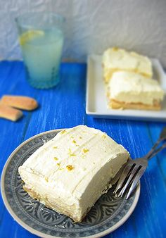 Kánikula desszertek sütés nélkül Vanilla Cake, Fudge, Dairy, Cheese, Food, Meals, Yemek, Eten, Caramel