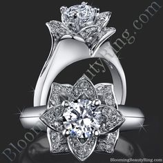 If you like the #BloomingBeautyRings but want something a little more simple in design, this may be the one for you!  #LotusRing #FlowerRing #BLOOMINGRING #BloomingBeautyDiamondRing http://www.bloomingbeautyring.com/all-flower-engagement-rings/