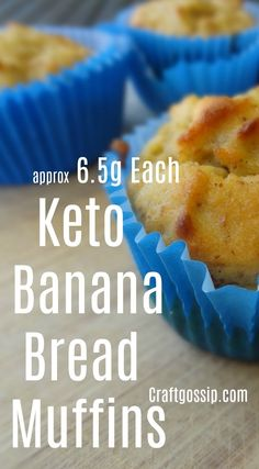 This Keto recipe is for banana bread muffins. I am on a keto lifestyle and I have to tell you that hot banana bread with butter is one of the things I missed the most. So I set out to find the best… Keto Banana Bread, Banana Bread Muffins, Keto Bread, Banana Bread Healthy Clean Eating, Clean Banana Bread, Low Calorie Banana Bread, Keto Breakfast Muffins, Low Carb Biscuit, Healthy Snacks