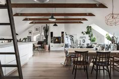 Step Inside this Sophisticated Attic Home