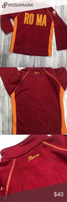 7e82f8d4881 AC Roma Football Soccer Fleece Jacket Italy Roma Football Club Fleece  Jacket Size xxl Condition  like new Jackets   Coats
