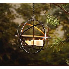 Garden Oasis Candle Holder Sphere Table Top Or Hanging Chandelier 274