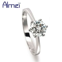 Find More Rings Information about Charms Big Stone Ring Womens Jewellery Cheap Chinese Goods Anillos Plata Mujer Silver CZ Diamond Rings Women Korean Almei J002,High Quality ring gear ring,China ring sponge Suppliers, Cheap ring width from Almei Jewelry Store on Aliexpress.com
