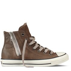 Converse - Chuck Taylor Moto Leather - Hi - Brown