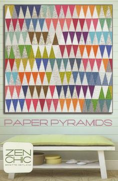 Zen Chic  Paper Pyramids Quilt Pattern by JeanMariesFabrics