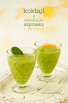 cocktail with avocado spinach and a banana