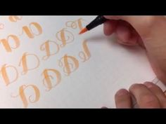 #letterattack Lettering Lessons - Brush Lettering Alphabet eE - YouTube