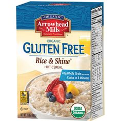 Organic Gluten Free Rice and Shine® Hot Cereal