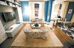 Carrie Bradshaw's redecorated apartment in the first Sex and the City movie #apartment #interiors #interiordesign #furnishings #SexandtheCity #SATC #CarrieBradshaw