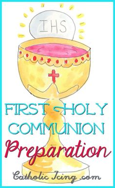 First Holy Communion Prep at Home- Kicking off the Year - Catholic Icing … Catholic Prayers, Catholic Religious Education, Catholic Crafts, Easter Religious, Catholic Kids, Catholic School, Catholic Religion, Church Crafts, Catholic Icing