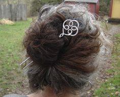 Celtic Swirl Hair Fork Hair Comb Shawl Pin door nicholasandfelice