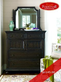 Paula Deen by Universal Bedroom Dressing Chest 193175 Mirrored Furniture, Cool Furniture, Bedroom Furniture, Shabby Chic Bedrooms, Guest Bedrooms, Bedroom Chest, Paula Deen, Building A House, Home Improvement