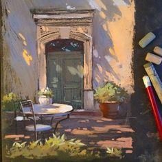 Люблю солнечные сюжеты. #пастель #наждачка #pastelpainting #pastellandscape #графика #рисунок