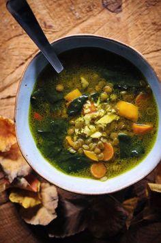 Ginger Harvest Lentil Soup (Vegan, Gluten Free)