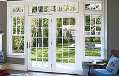 French windows- Also called French doors they are long sash windows hinged to the side. The window extends down to the floor and serves as a door, French Windows, French Doors Patio, French Patio, French Doors Bedroom, Back Doors, Entry Doors, Garage Doors, Front Entry, Closet Doors