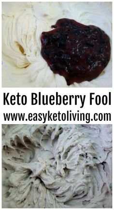 Keto Blueberry Fool Recipe - Easy & Healthy Low Carb Blueberry Dessert Recipes using fresh blueberries that would be great through the year and even Christmas morning!