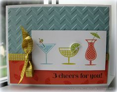 Happy Hour stamp set.  Canopy Crafts