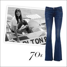 The Inspiration: Jane Birkin's perfectly streamlined, leg-lengthening flares.  The Update: Textile Elizabeth and James Lennox jeans, $238, shopbop.com.   - HarpersBAZAAR.com