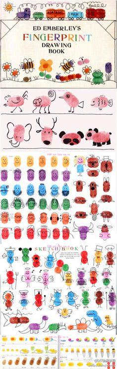 fingerprint drawing book