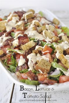 BLT Salad - your favorite sandwich in salad form!