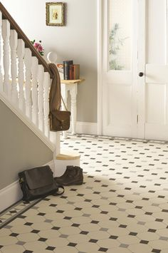 The simple Nottingham pattern in White, Grey and Black and looks great in hallways. Our geometric Victorian Floor Tile range is made up of individual tile pieces in various colours and shapes. Just launched are new shades, tile shapes and patterns to show how all styles of home can be updated with this type of flooring. Choose from a pre-designed pattern or create something entirely bespoke. originalstyle.com