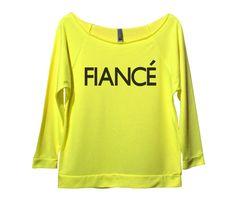Fiance Womens 3/4 Long Sleeve Vintage Raw Edge Shirt