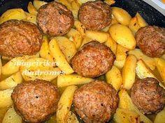 Μπιφτέκια με πατάτες στον φούρνο Cookbook Recipes, Cooking Recipes, Recipe Images, Greek Recipes, Healthy Snacks, Potatoes, Vegetables, Ethnic Recipes, Food