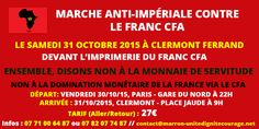 31 Octobre 2015 - Marche anti-impériale contre le Franc CFA