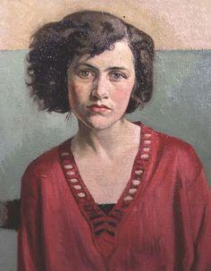 "Sir William Rothenstein, ""Portrait of a Girl in Pink"""