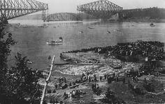 Construction du pont de Québec, 1916