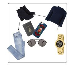 """Airport"" by xolovelya ❤ liked on Polyvore featuring Polo Ralph Lauren, Monsoon, Mark Cross and Seafolly"
