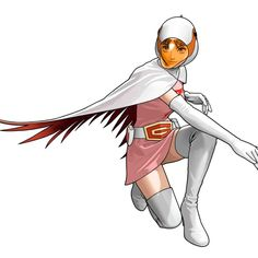 Jun, the Swan, from Gatchaman