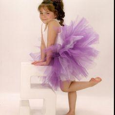 Purple with white underlay tutu