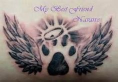 paw print with angel wings tattoo - Yahoo! Image Search Results