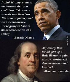 Benjamin Franklin vs. Barack Obama on Freedom & Liberty