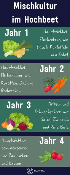 - Hochbeet bepflanzen: Pflanzplan, Mischkultur & Gründüngung Mixed culture in the raised bed – Year For the first planting of the raised bed, some strong-consuming vegetables should be selected. Further tips on mixed culture in the raised bed can be Garden Types, Herb Garden Design, Vegetable Garden Design, Garden Soil, Garden Care, Garden Beds, Garden Cottage, Sunken Garden, Gardening For Beginners