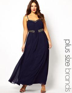 Little Mistress | Little Mistress Embellished Bandeau Maxi Dress at ASOS