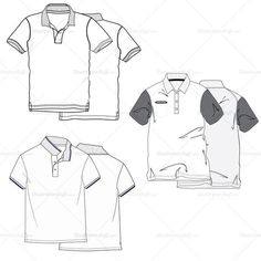 {Illustrator Stuff} Men's Polo Fashion Flat Sketch
