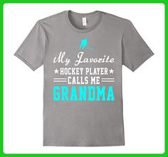 Mens My Favorite Hockey Player Calls Me Grandma Funny Shirt 3XL Slate - Sports shirts (*Amazon Partner-Link)